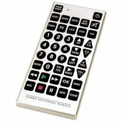 PrimeTrendz TM Jumbo Large Universal Remote Control in Silver