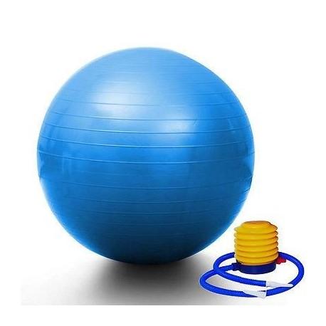 "PrimeTrendz TM Blue Yoga Ball 29"" 75cm Exercise Pilates Balance Gymnastic Fitness W/air Pump"