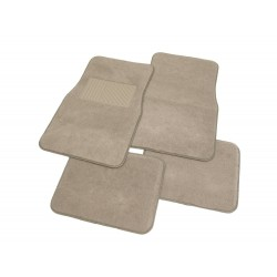 PrimeTrendz TM Universal Carpet Floor Mat - 4pc Beige