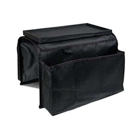 PrimeTrendz TM Arm Rest Organizer 6 Pocket Adjusts To Fit Any Couch Or Chair Armrest